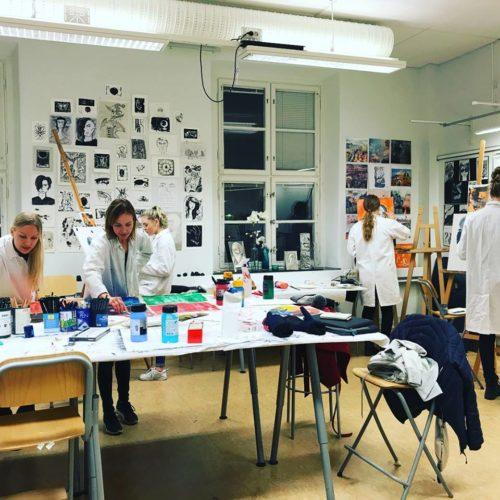 Studiebesök från Östbergsskolan