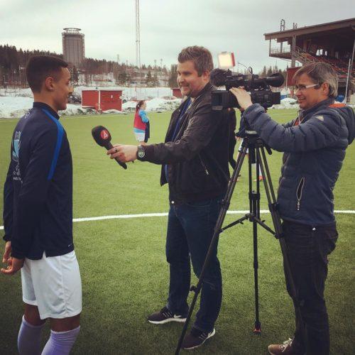 TV4 intervjuade spelare